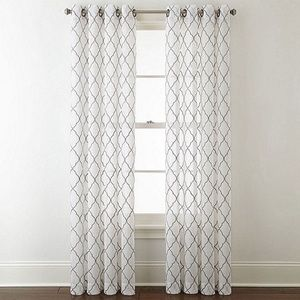 Bayview Embroidery grommet panel curtain JC penny